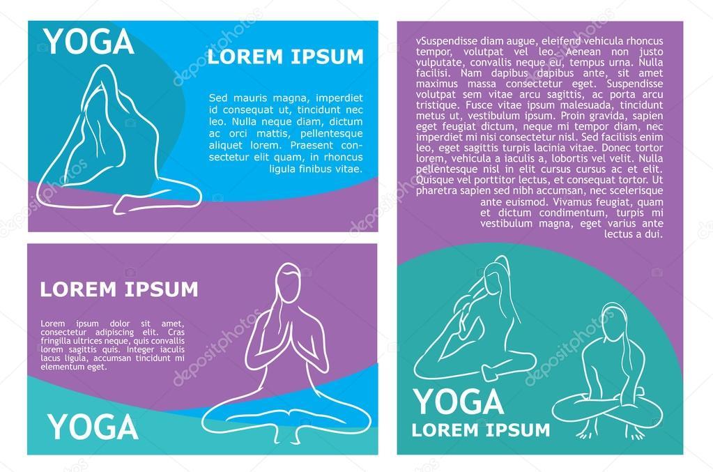 plantilla de vector yoga flyer — Archivo Imágenes Vectoriales ...