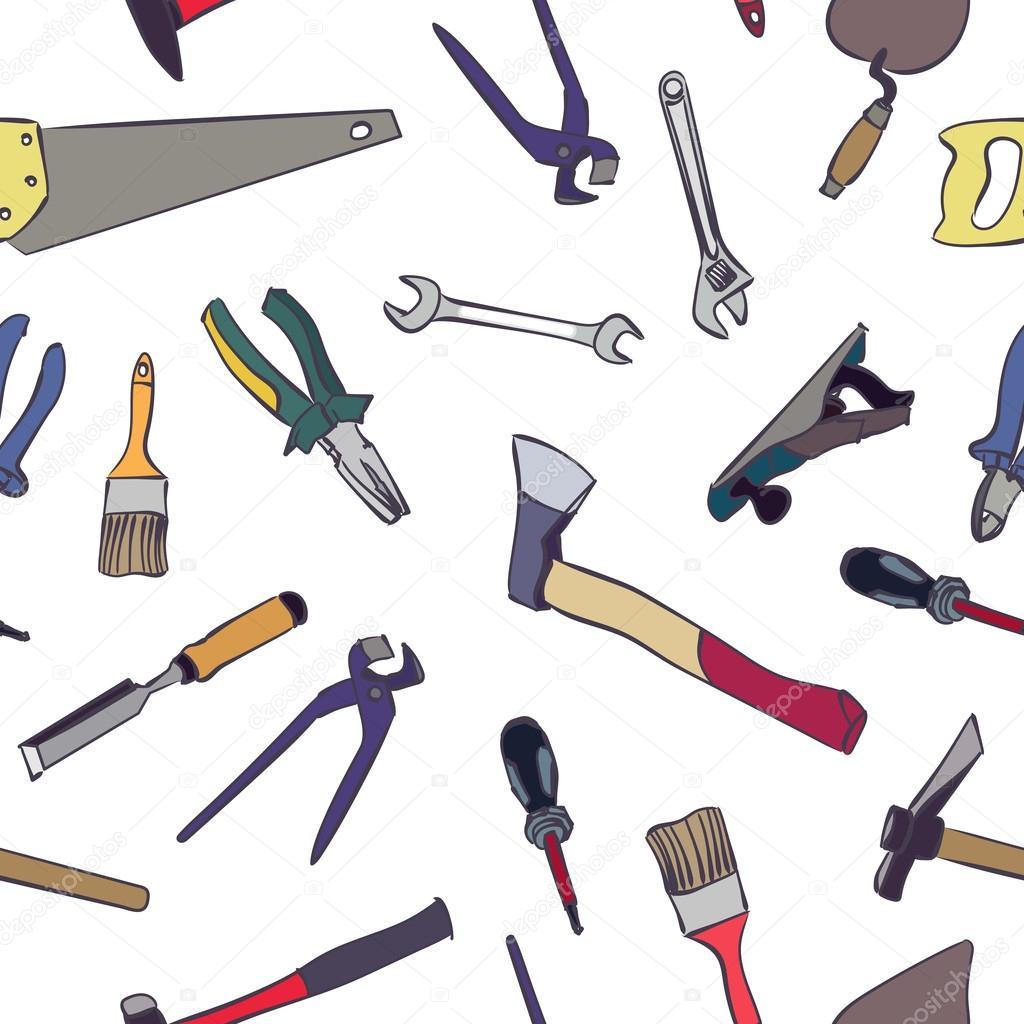 Patr n de trabajo herramientas vector de stock lemuur for Herramientas de campo