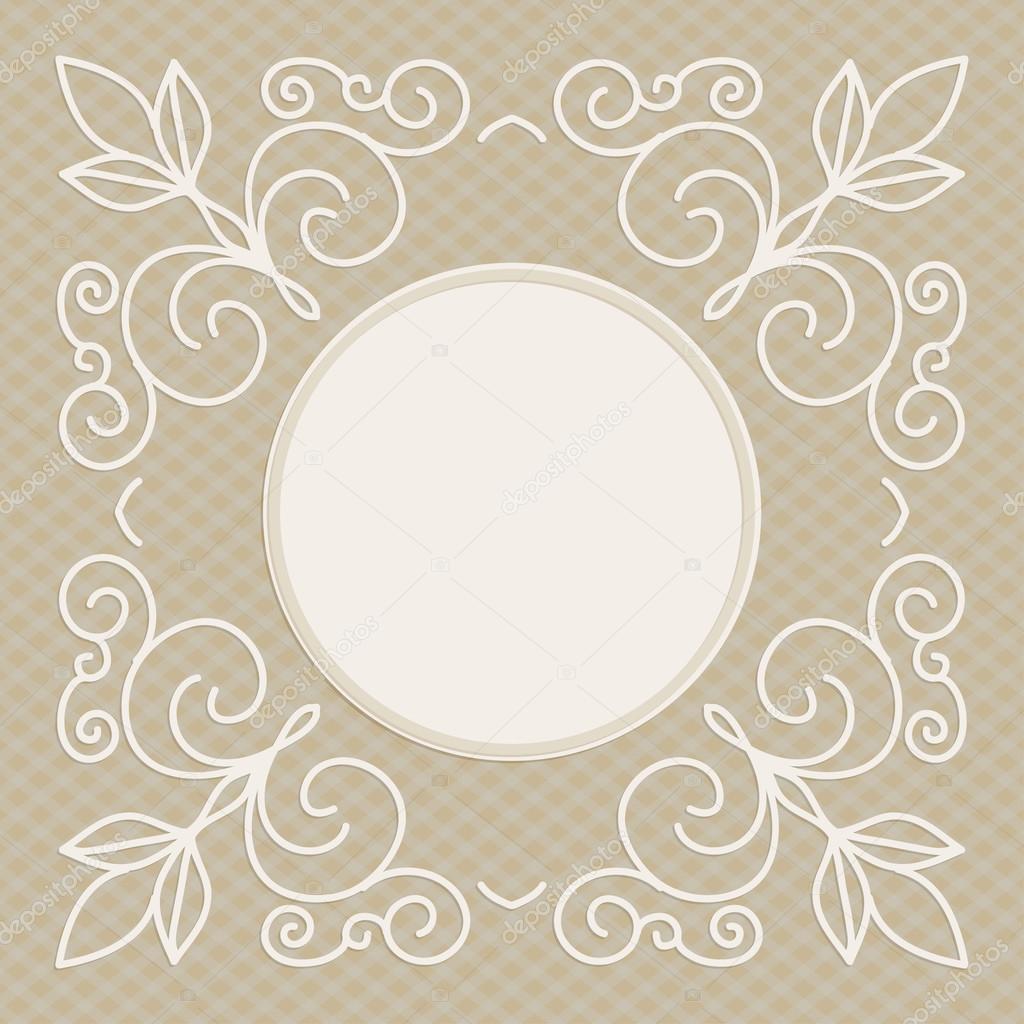 plantilla de diseño de invitación de boda - fondo decorativo para la ...
