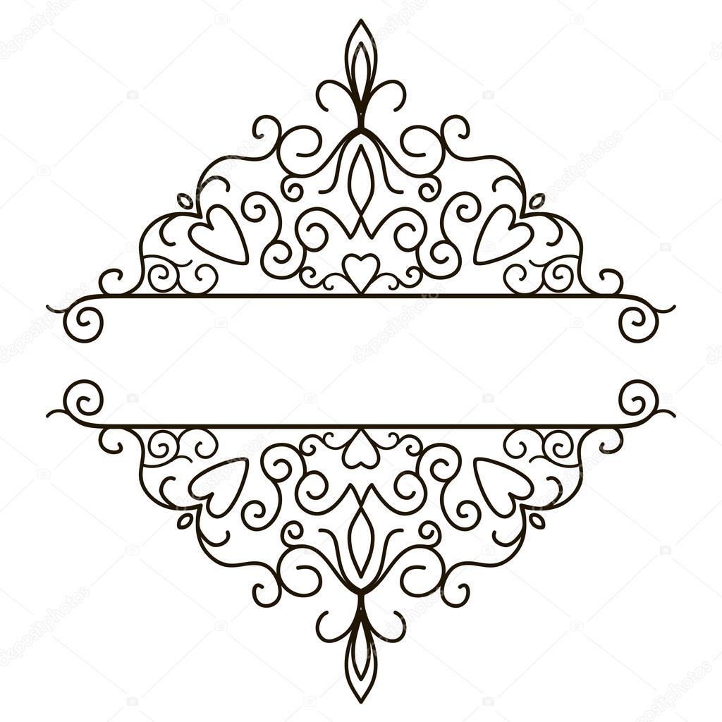 vintage design elements for page border stock vector. Black Bedroom Furniture Sets. Home Design Ideas