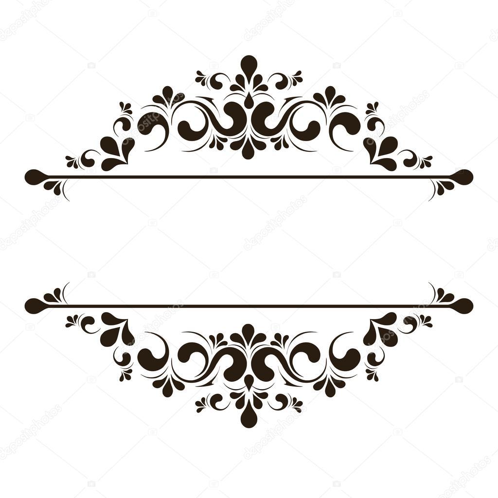 Elegant Frame Banner Floral Elements Vector Illustration