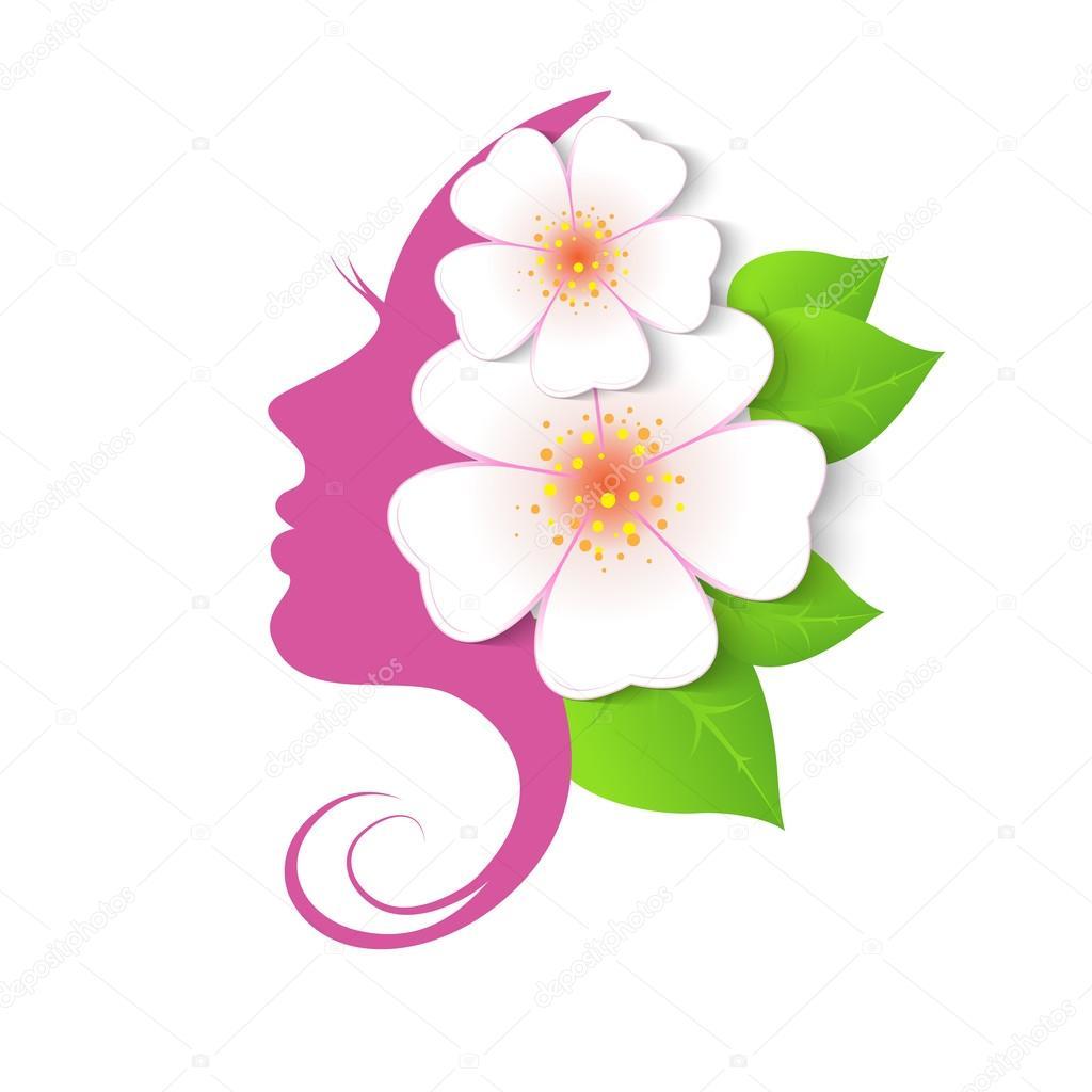 the profile of woman with flowers stock vector  u00a9 nemetse hair salon logo template hair salon logo creator free