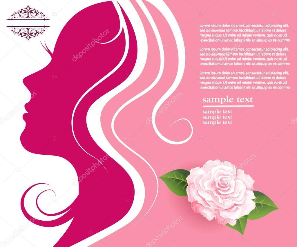 Female silhouette profile