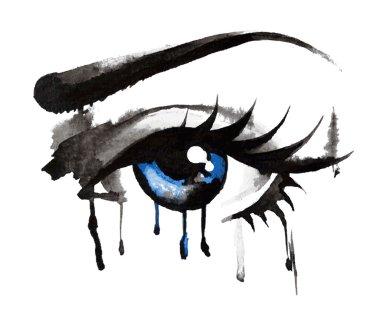 Beautiful eyes, hand-drawn