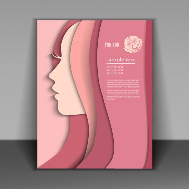 Booklet with a silhouette of a beautiful young woman