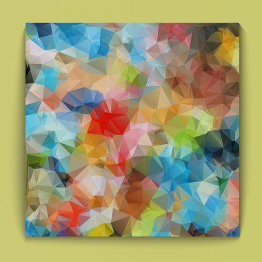 background bright polygonal