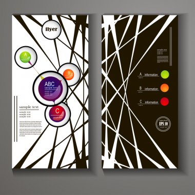 Business flyer template or corporate banner design, can be use for publishing, print and presentation with elements of infographics clip art vector