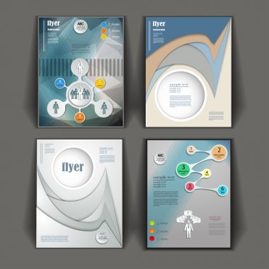 set of business booklets