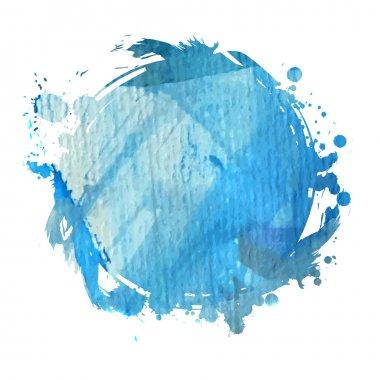 """Картина, постер, плакат, фотообои """"Голубой акварелью помаркой"""", артикул 74976065"""