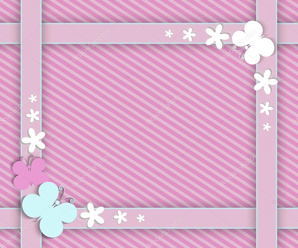 Marco color rosa para niñas — Archivo Imágenes Vectoriales © nemetse ...