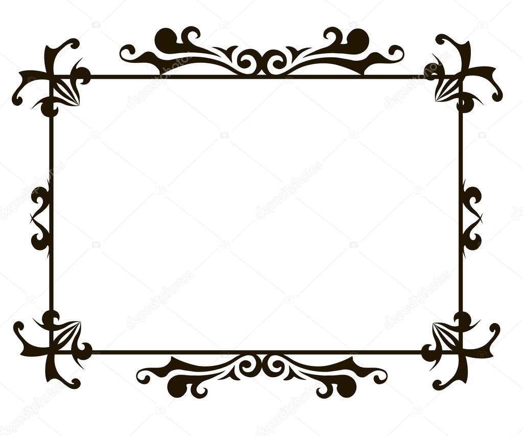 Zier-Frame Vorlage — Stockvektor © nemetse #89028218