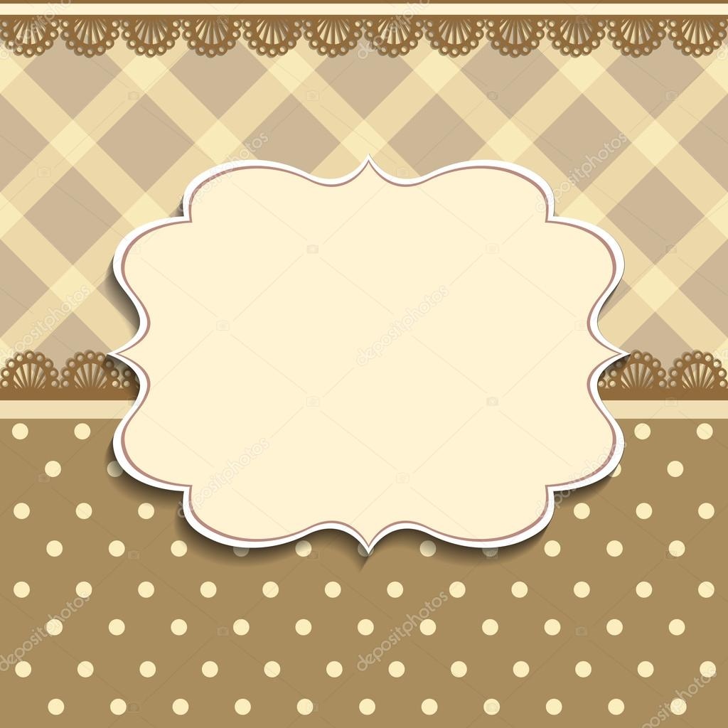 Vintage Frame Background Invitation Template Stock Vector