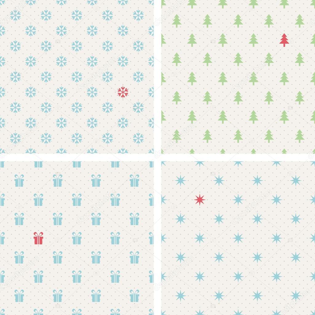 conjunto de patrones de Navidad sin costuras — Archivo Imágenes ...