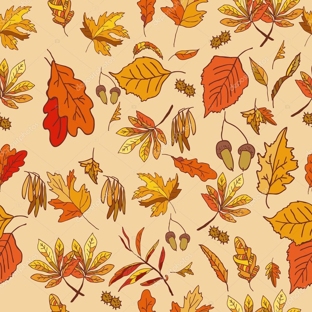 composición otoño con hojas amarillas y rojas — Archivo Imágenes ...