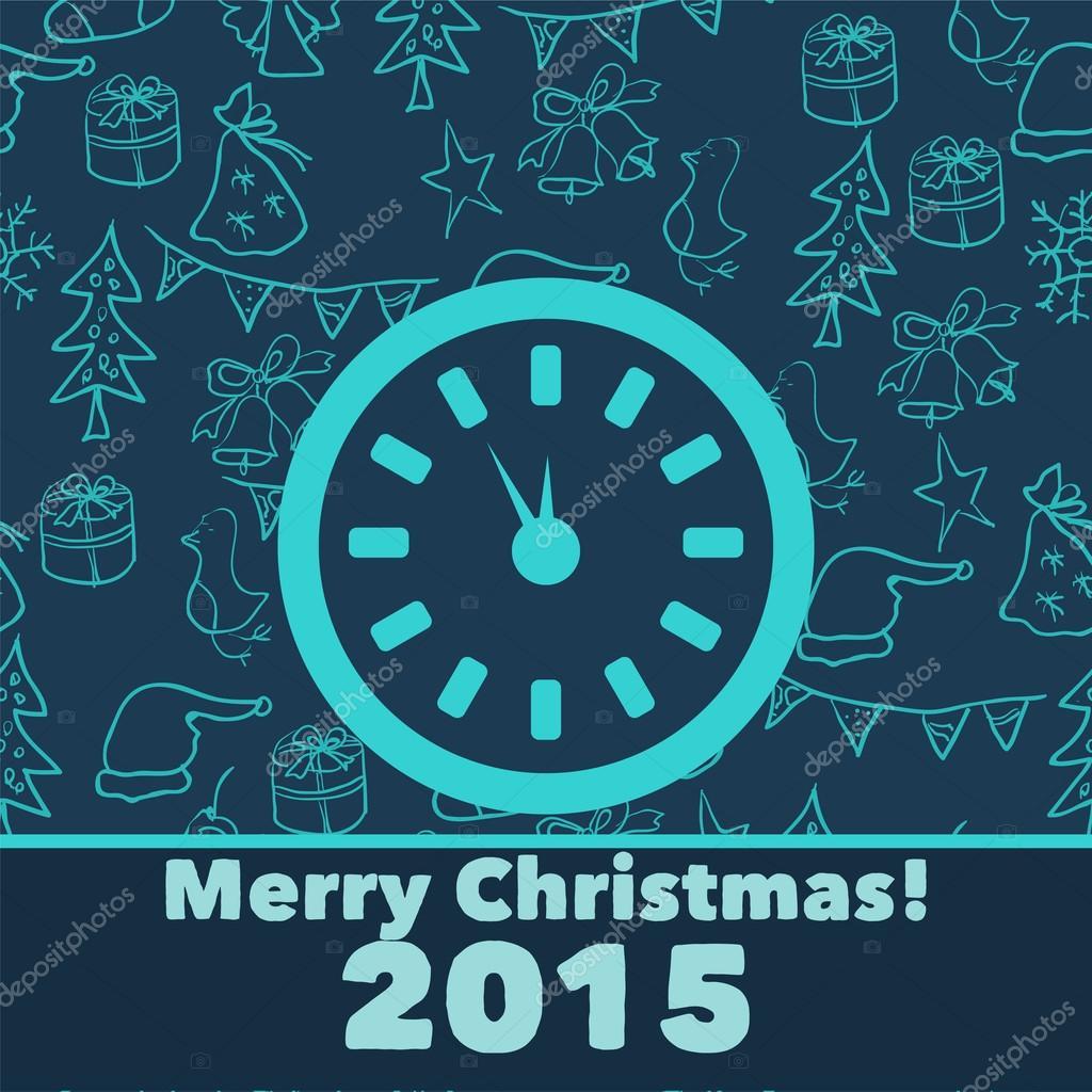 Neujahrs-Begrüßung-Hintergrund — Stockvektor © RaSveta #58438255
