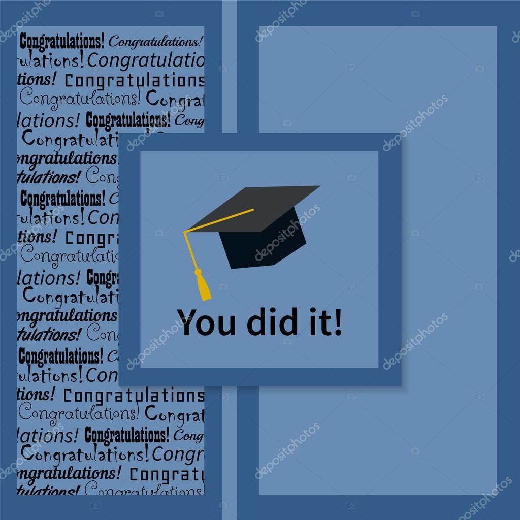 gratulationskort examen Gratulationskort med Grattis examen — Stock Vektor © RaSveta #70026147 gratulationskort examen