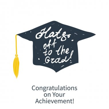 Greeting Card With Congratulations Graduate