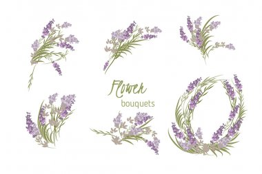 Floral lavender background