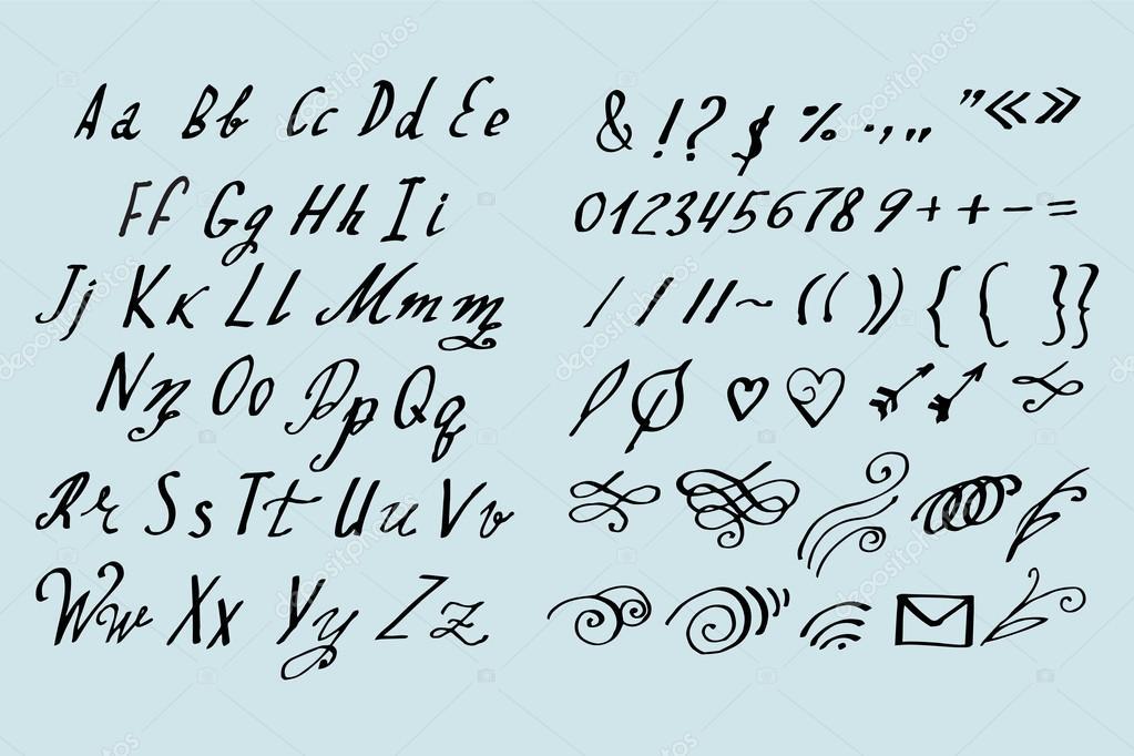 Souvent de calligraphie style brosse — Image vectorielle #97702080 JK37