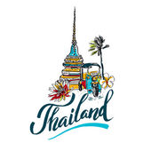 Photo A vector illustration of Info graphic elements for traveling to Thailand,