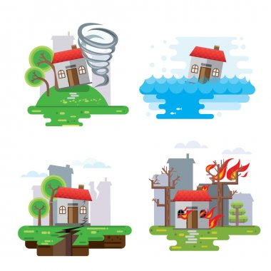 House insurance business service icons template.