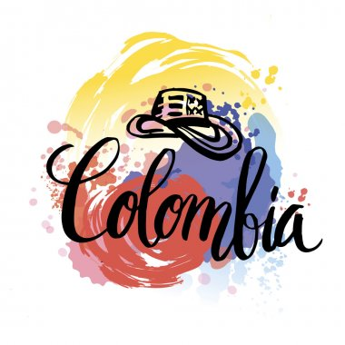 Vector illustration independence day of Colombia.