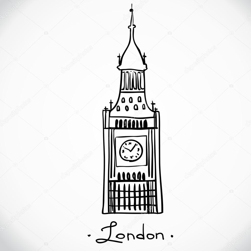 el Big ben, Londres, Inglaterra — Vector de stock © iriskana #72349211