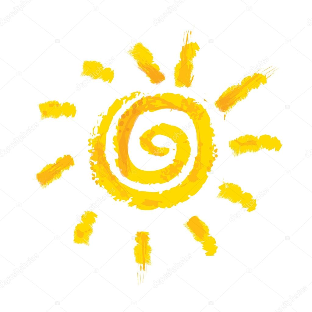 watercolor sun rays flat icon stock vector iriskana 72349467 rh depositphotos com sun rays vector free sun rays vector images