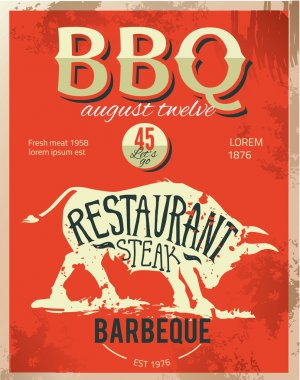Vintage metal sign - Dads BBQ - Vector EPS10. Grunge effects can be easily removed.