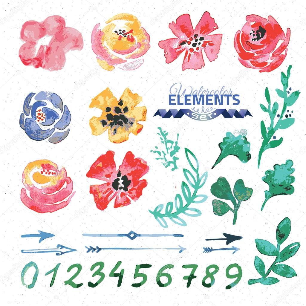 Watercolor floral wreath creator.