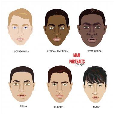 Set of diverse avatars.