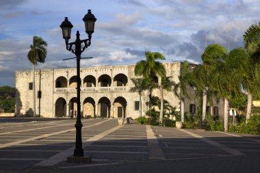 Diego Colon palace in Square of Spain in Santo Domingo in the caribbean Dominican Republic