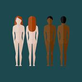 Fotografia Illustrazione con il corpo di donne nude