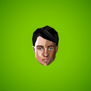 Man face in polygonal style