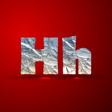 Silver letters H