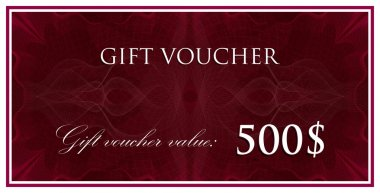 Gift voucher with guilloche pattern