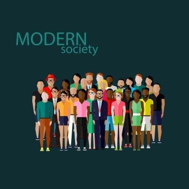 Modern society concept