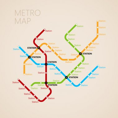 Metro map template