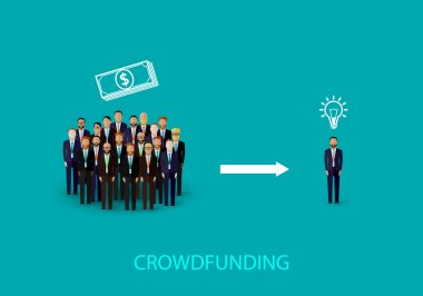 Infographic crowdfunding concept.