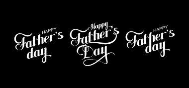 Happy Fathers Day retro label