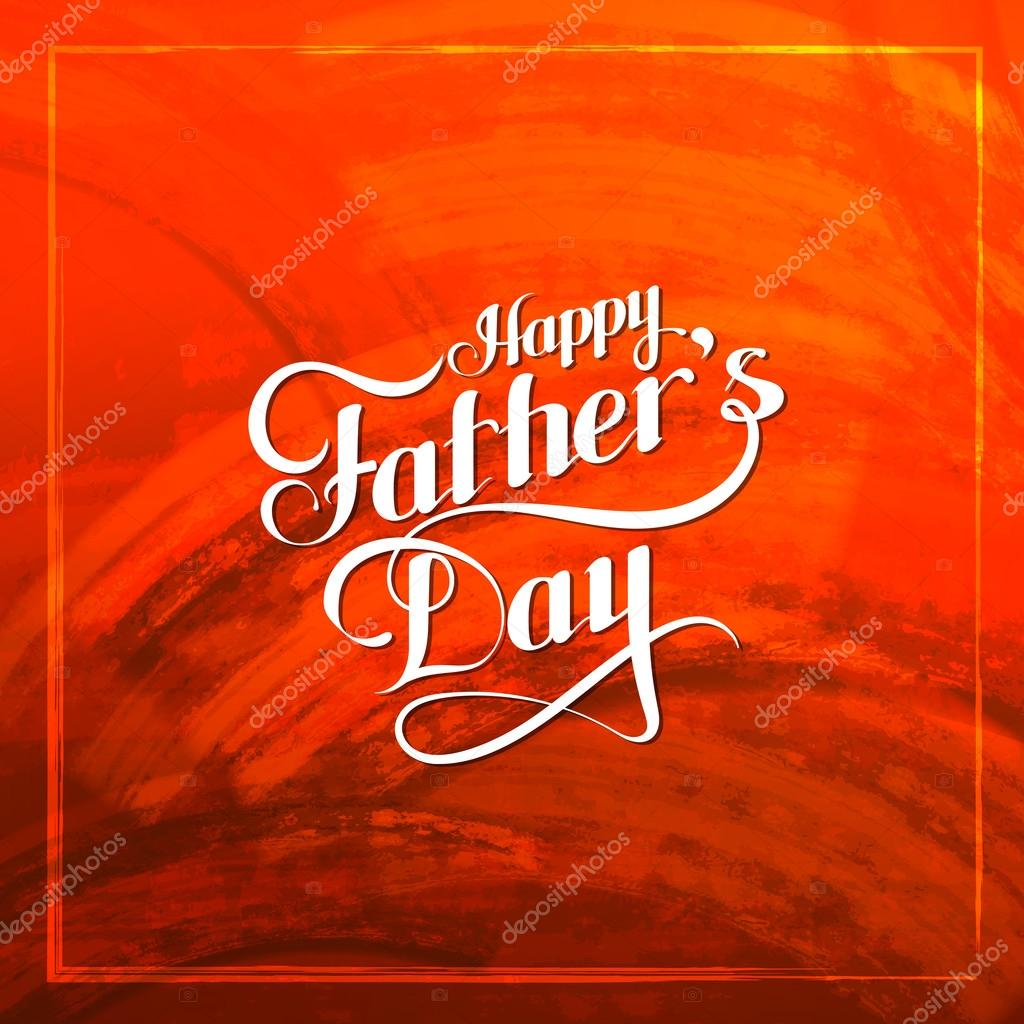 Happy Fathers Day retro label on red grunge texture.