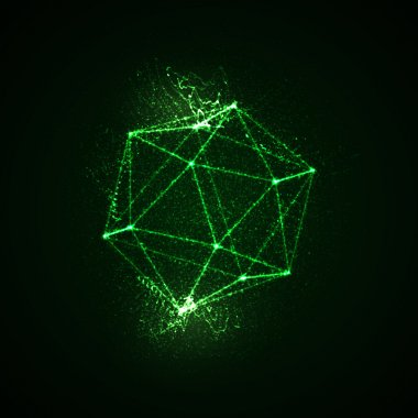 3D illuminated platonic shape