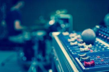 Audio mixer, music equipment stock vector