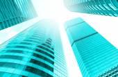 Fotografie Modernes Business-Building-Glas aus Wolkenkratzern, Geschäftskonzept der Architektur