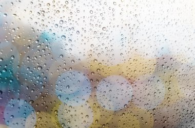 Waterdrops on glass window