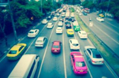 Traffic jam with rush hour
