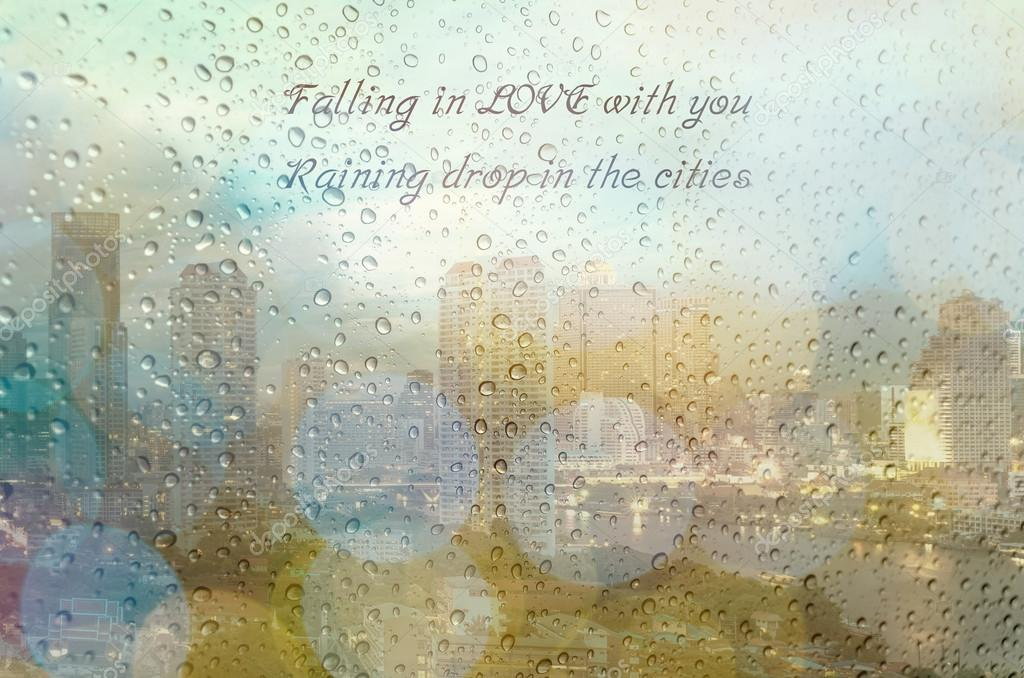 Images: raindrops with quotes | Water drops on window and
