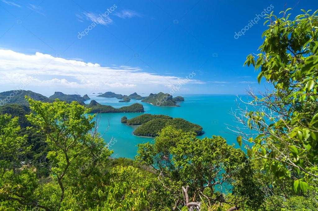 View of Ang Thong National Marine Park, Thailand,Seascape backgr