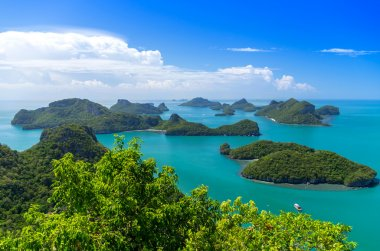 View of Ang Thong National Marine Park, Thailand,Seascape background