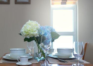 restaurant set with Luxury Interior living room background